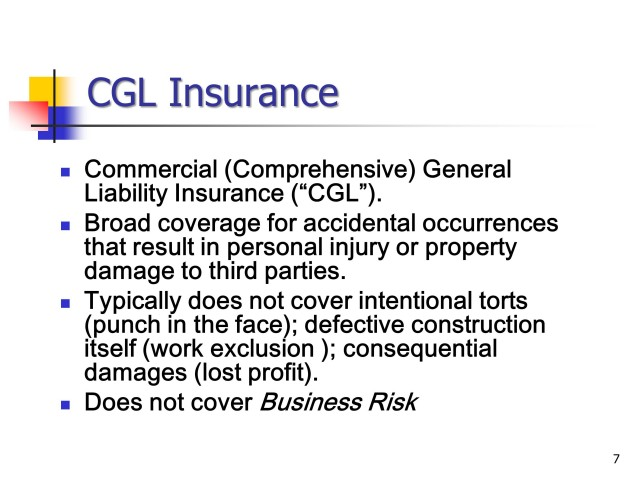 Basic Principles of Construction Insurance