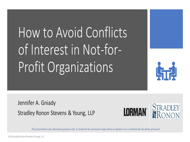 How to Avoid Conflicts of Interest in Not-for-Profit Organizations