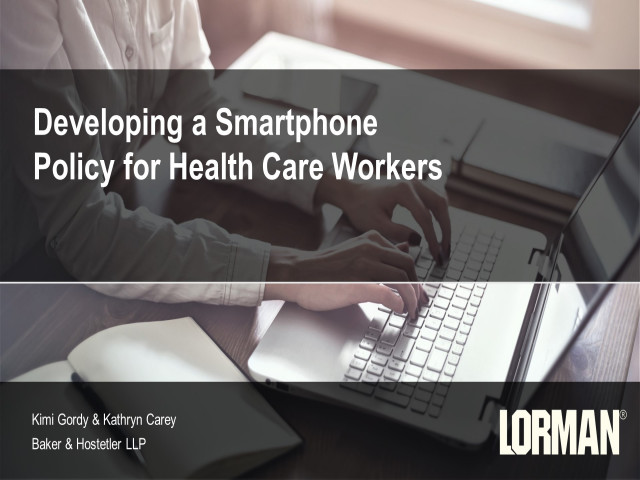 Developing a Smartphone Policy for Health Care Providers