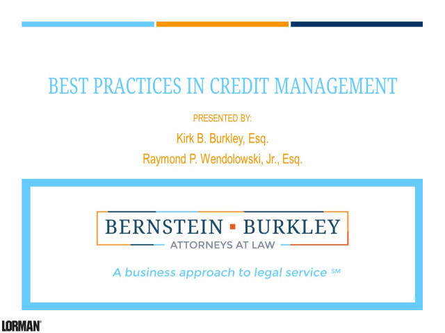 Best Practices in Business Credit Management
