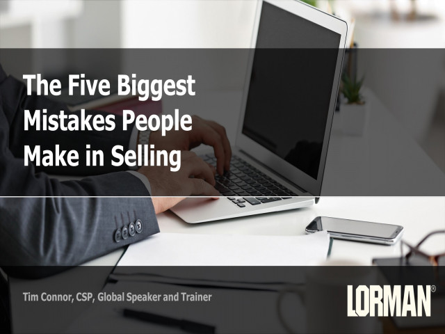 The 5 Biggest Mistakes People Make in Selling