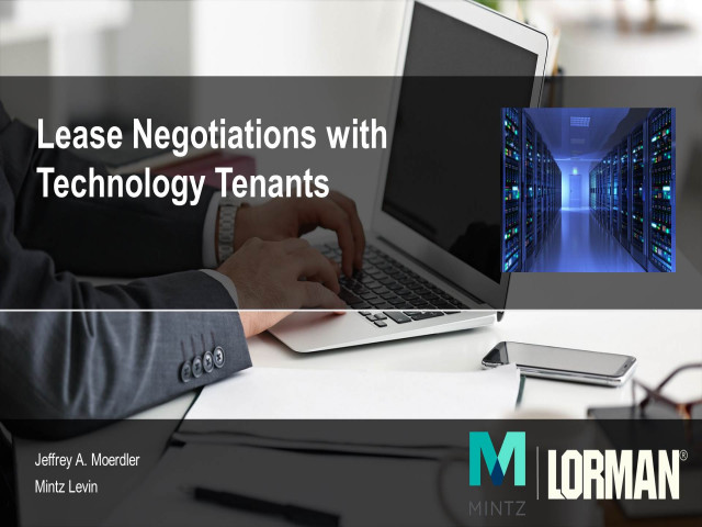 Lease Negotiations with Technology Tenants