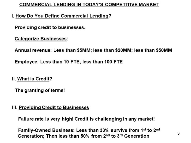 Commercial Lending in Today's Competitive Market