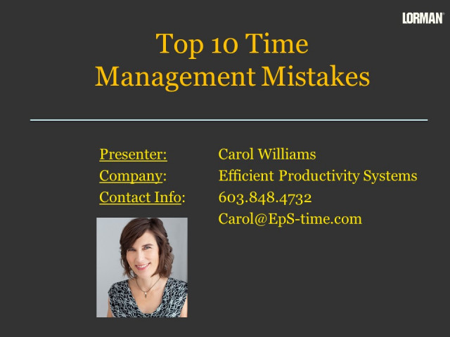 Top 10 Time Management Mistakes