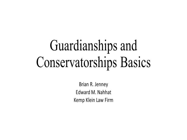 Guardianship and Conservatorship: Essentials of and What to Avoid