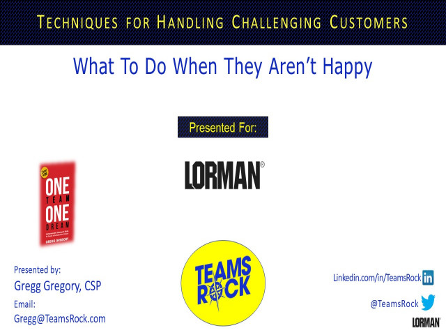 Techniques for Handling Challenging Customers