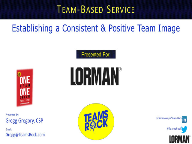 Team-Based Service: Establishing a Consistent and Positive Team Image