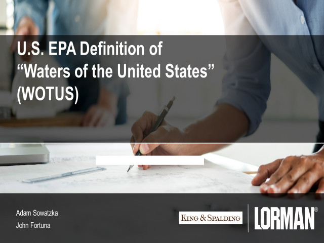 USEPA Definition of Waters of the United States (WOTUS)