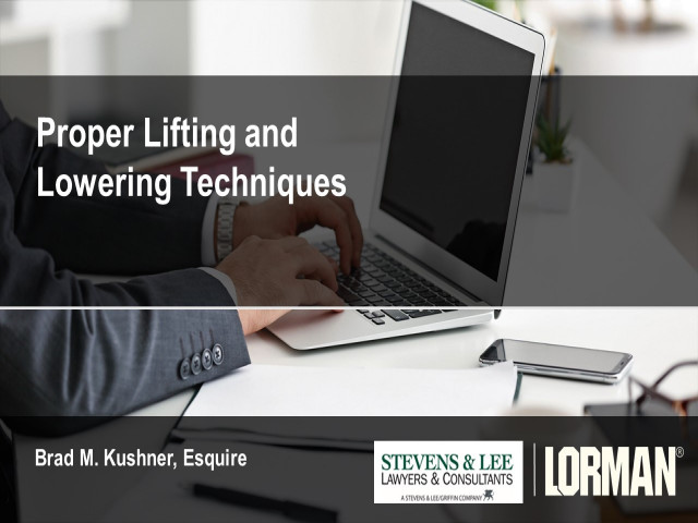 Proper Lifting and Lowering Techniques