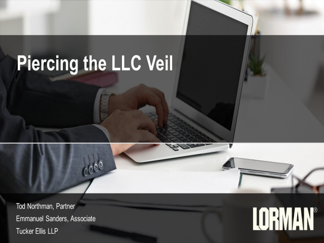 Piercing the LLC Veil