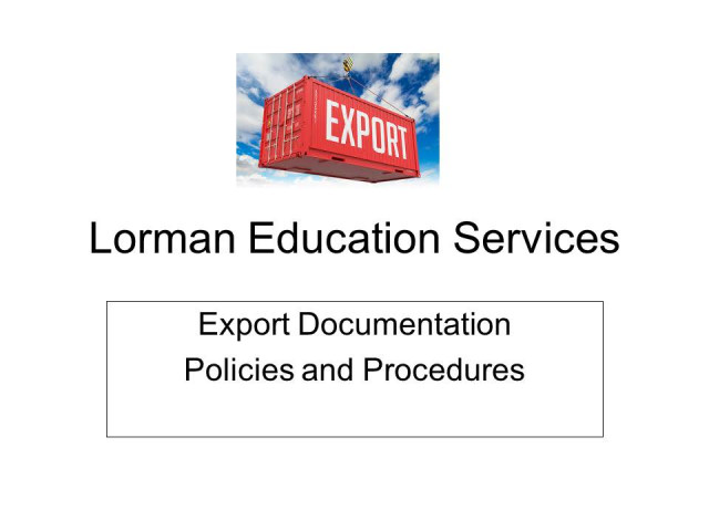 Export Documentation Policies and Procedures