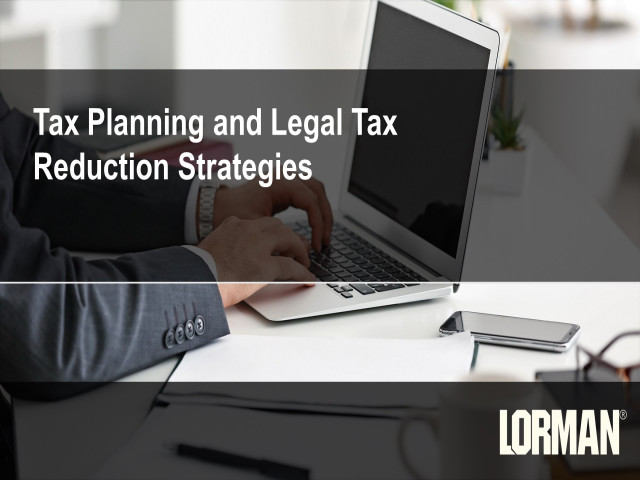 Tax Planning and Legal Tax Reduction Strategies