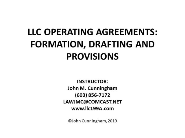 LLC Operating Agreements: Formation, Drafting, and Provisions