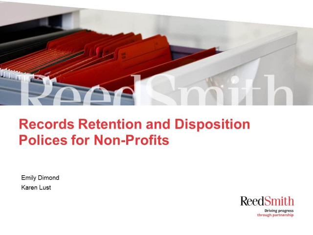 Document Retention and Destruction Policies for Nonprofits
