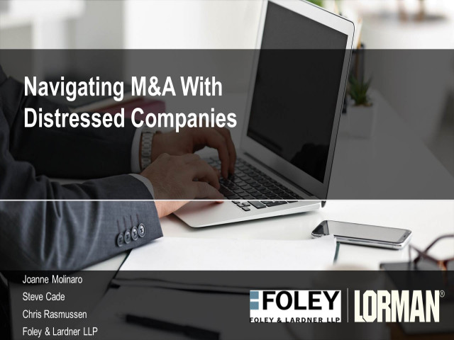 Navigating Mergers and Acquisitions with Distressed Companies