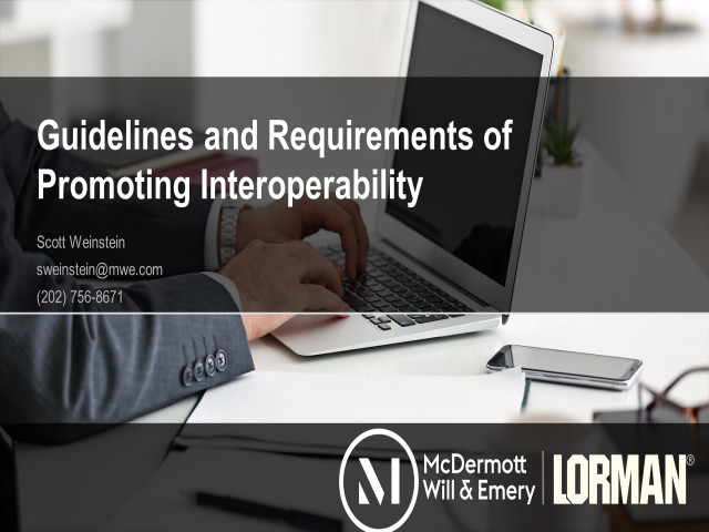 Guidelines and Requirements of Promoting Interoperability