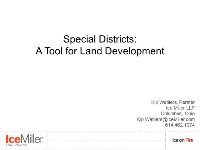 Special Districts In Land Development