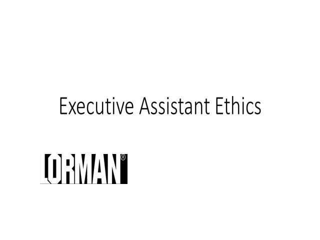 Executive Assistant Ethics