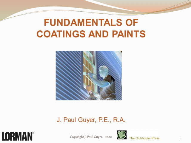 Fundamentals of Coatings and Paints