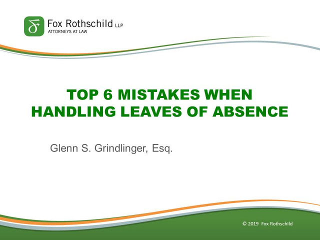 Top Mistakes to Avoid When Dealing with Leave of Absence