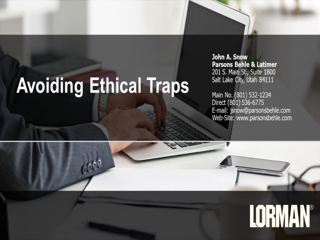 Avoiding Ethical Traps