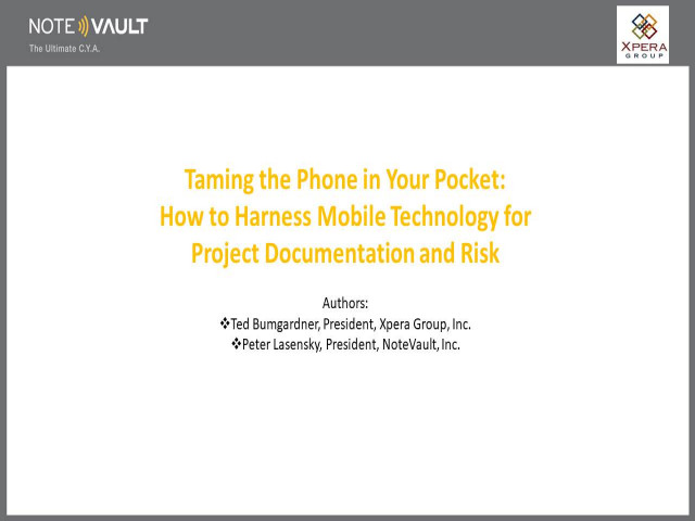 The Good and Bad of Using Mobile Devices for Construction Documentation
