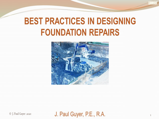 Best Practices in Designing Foundation Repairs