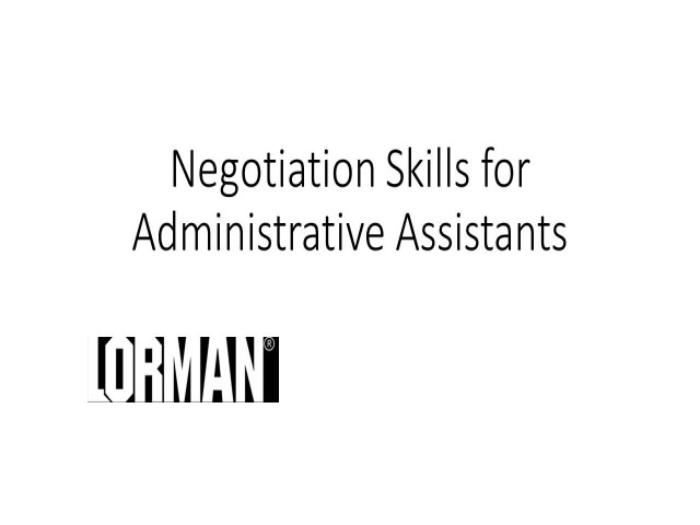 Negotiation Basics for Administrative Professionals