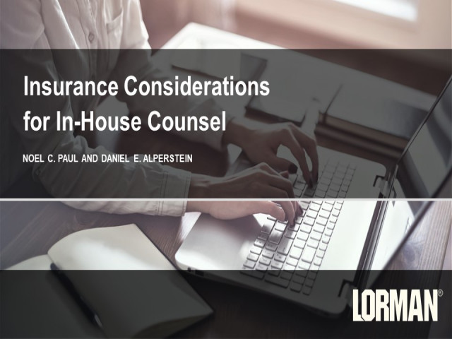 Insurance Considerations for In-House Counsel