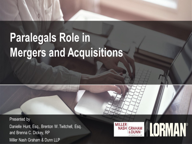 Paralegals Role in Mergers and Acquisitions