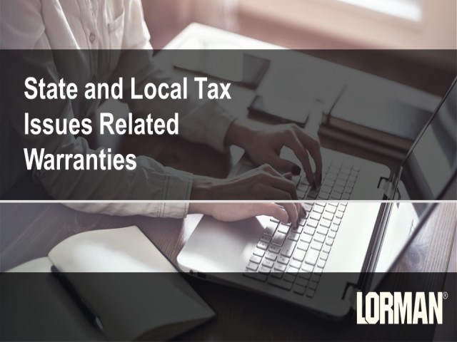 Multistate Taxation of Software Warranties and Maintenance Agreements