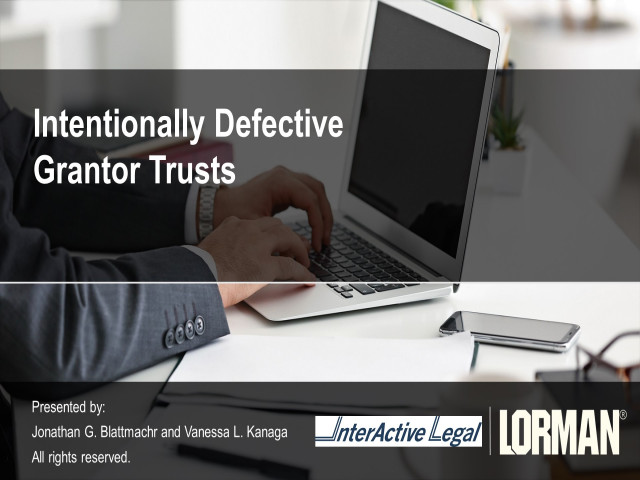 Intentionally Defective Grantor Trusts