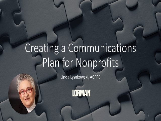 Creating a Communications Plan for Nonprofits