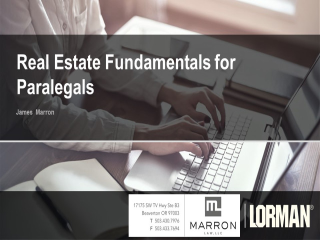 Real Estate Fundamentals for Paralegals