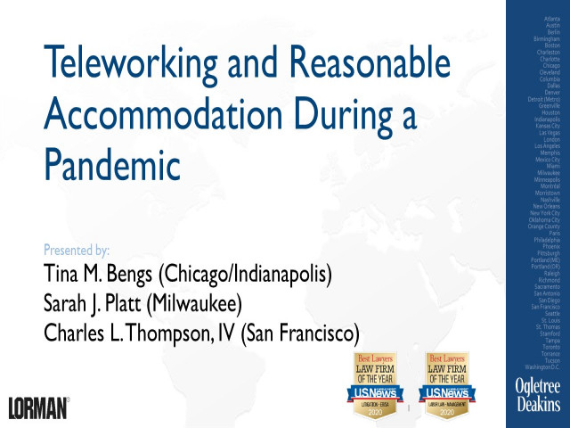 Teleworking and Reasonable Accommodation During a Pandemic