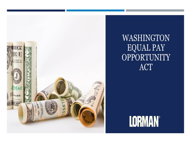 Washington's Equal Pay and Opportunities Act Update