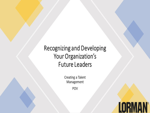 Recognizing and Developing Your Organization's Future Leaders
