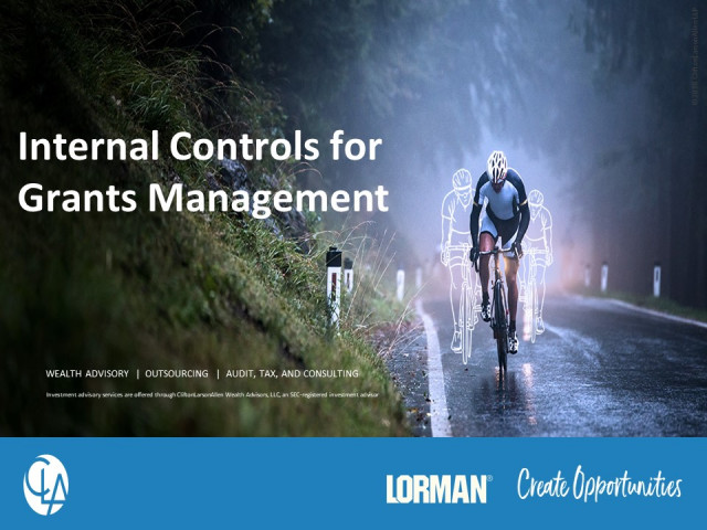 Internal Controls for Grants Management
