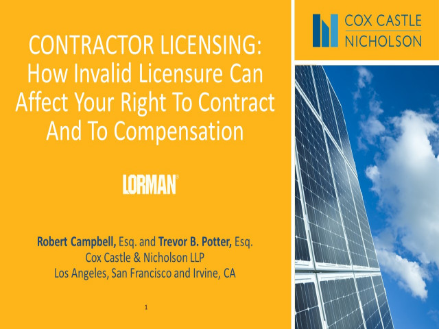 Contractor Licensing Issues: How Invalid Licensure Affects Your Right to Contract and Compensation