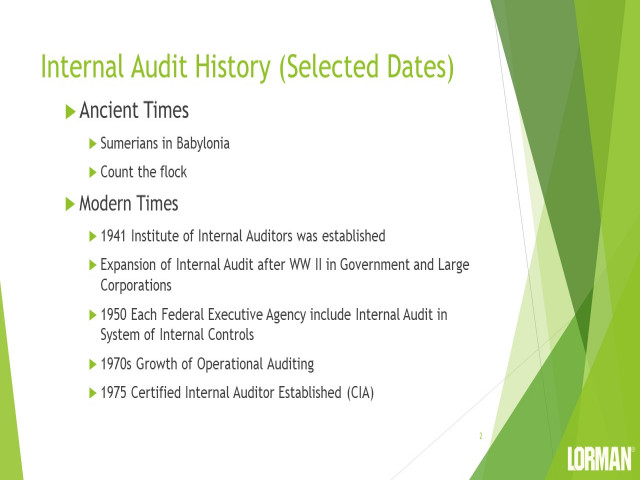 Internal Auditing Fundamentals