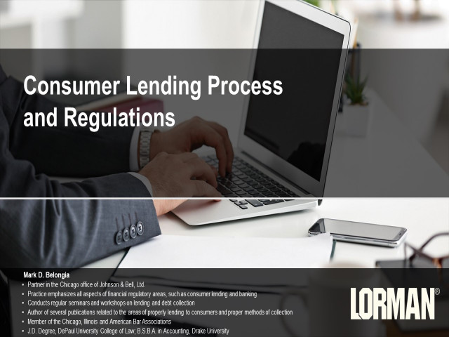 Consumer Lending Process and Regulations