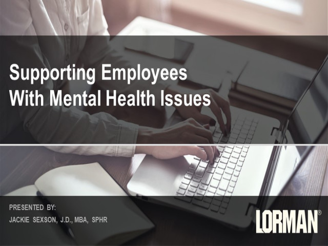 Supporting Employees With Mental Health Issues