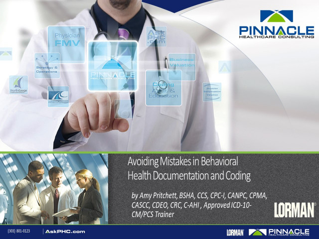 Avoiding Mistakes in Behavioral Health Documentation and Coding