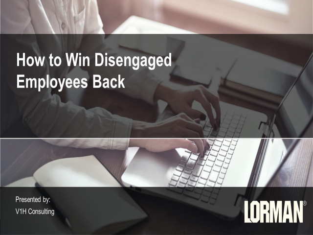 How to Win Disengaged Employees Back