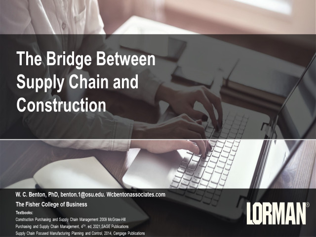 The Bridge Between Supply Chain and Construction