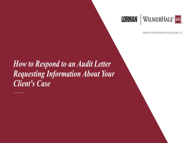 How to Respond to an Audit Letter Requesting Information About Your Client's Case