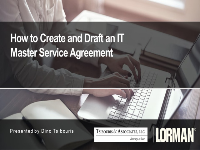 How to Create and Draft an IT Master Service Agreement