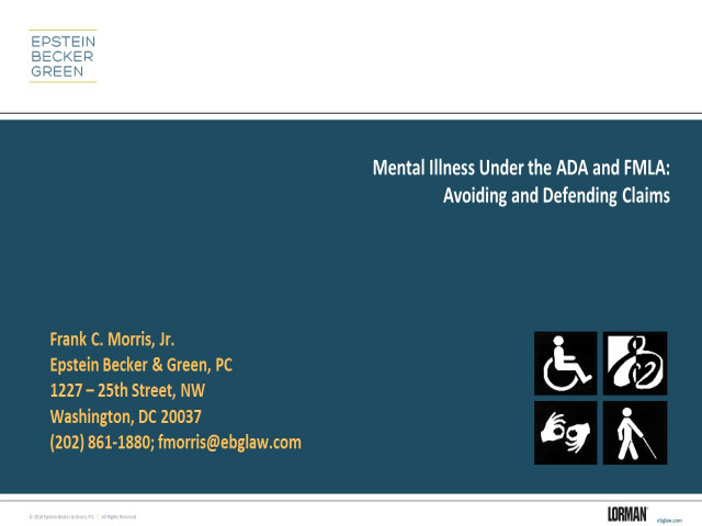 Preventing and Defending Mental Health FMLA and ADA Claims