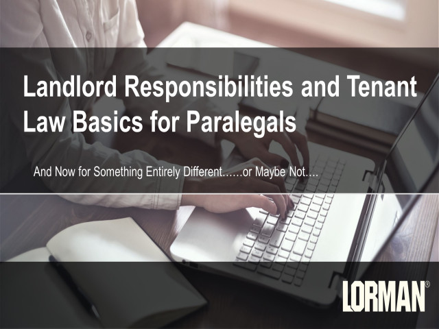 Landlord Responsibilities and Tenant Law Basics for Paralegals