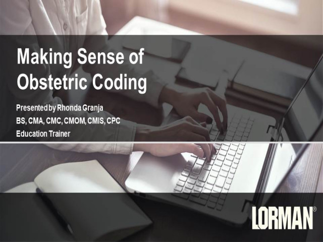 Making Sense of Obstetric Coding